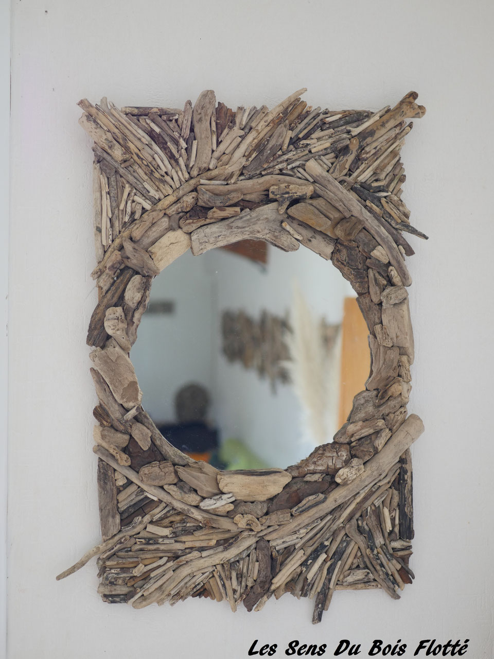miroirs les sens du bois flott. Black Bedroom Furniture Sets. Home Design Ideas