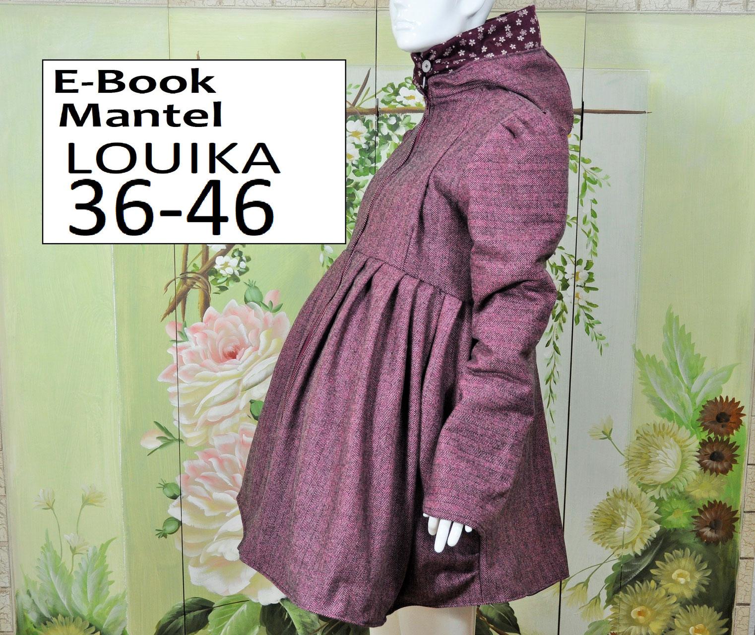 E-Book/ Schnittmuster Schwangerschaftsmantel LOUIKA 36-46 ...