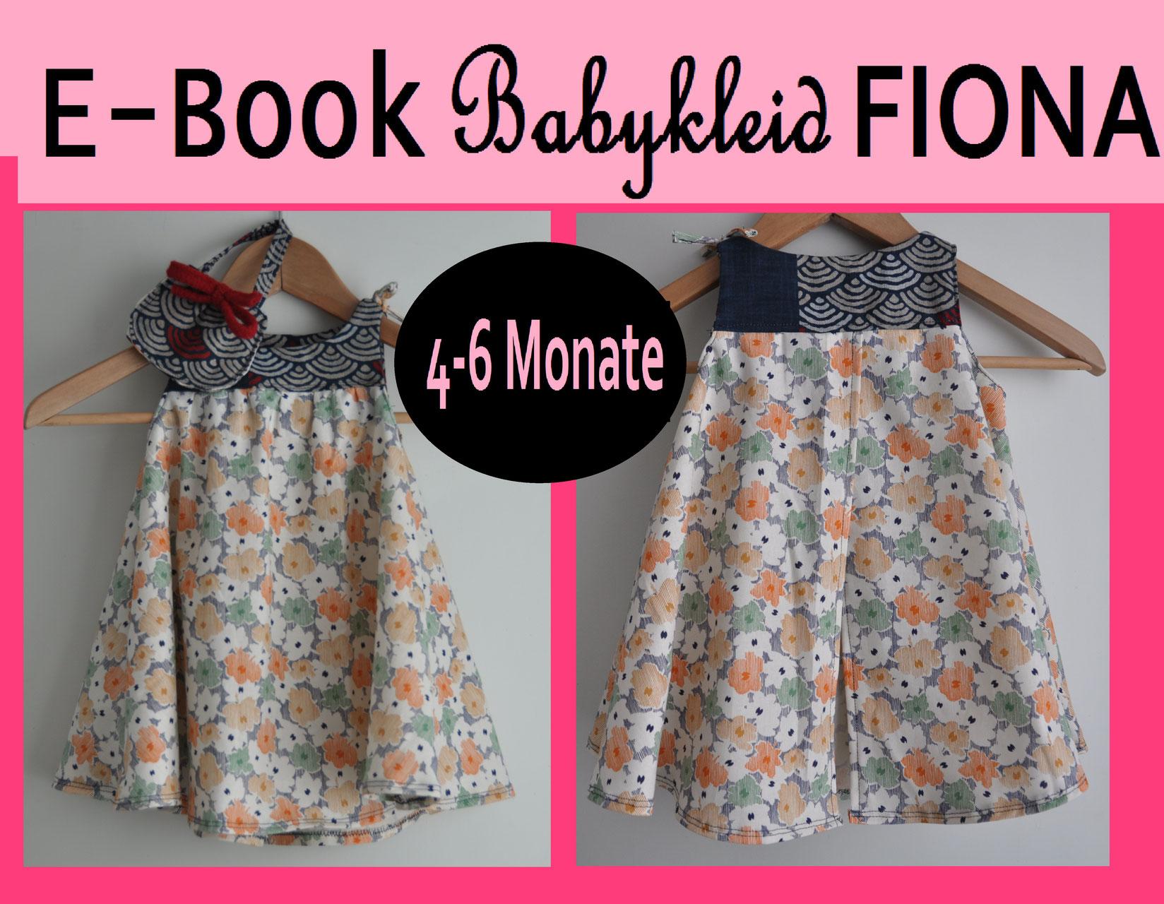 E-Book/ Schnittmuster Babykleid FIONA 4-6 Monate - Schnittmuster von ...