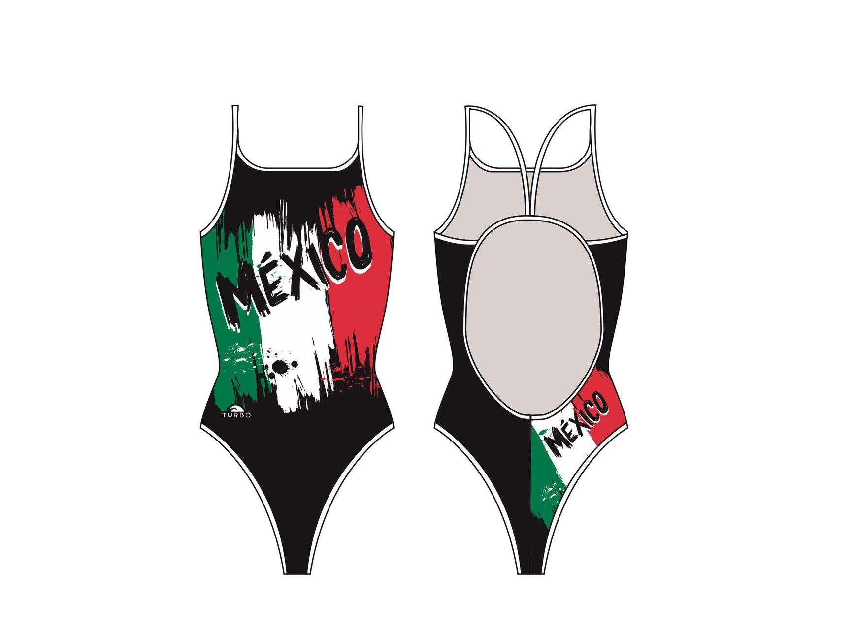 Natación Natación Turbo Mujer Mujer Traje Traje México N8mwn0