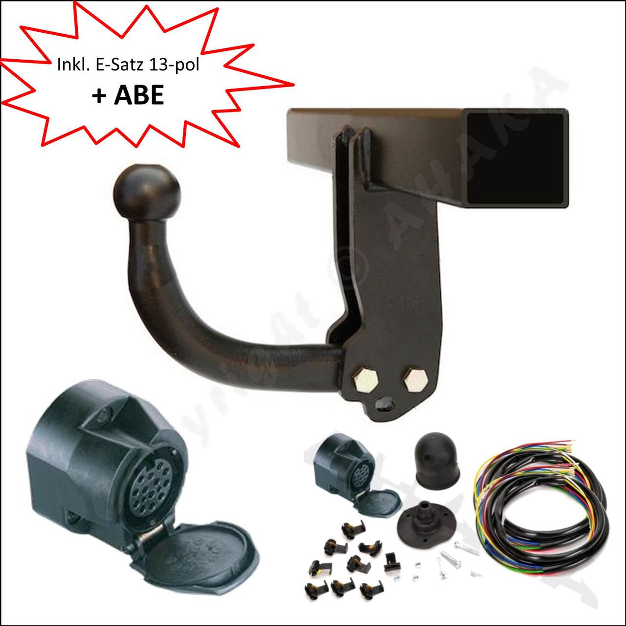 7-pol E-Satz Anhängerkupplung starr Nissan Almera 3//5-Tür N16 2000//2006