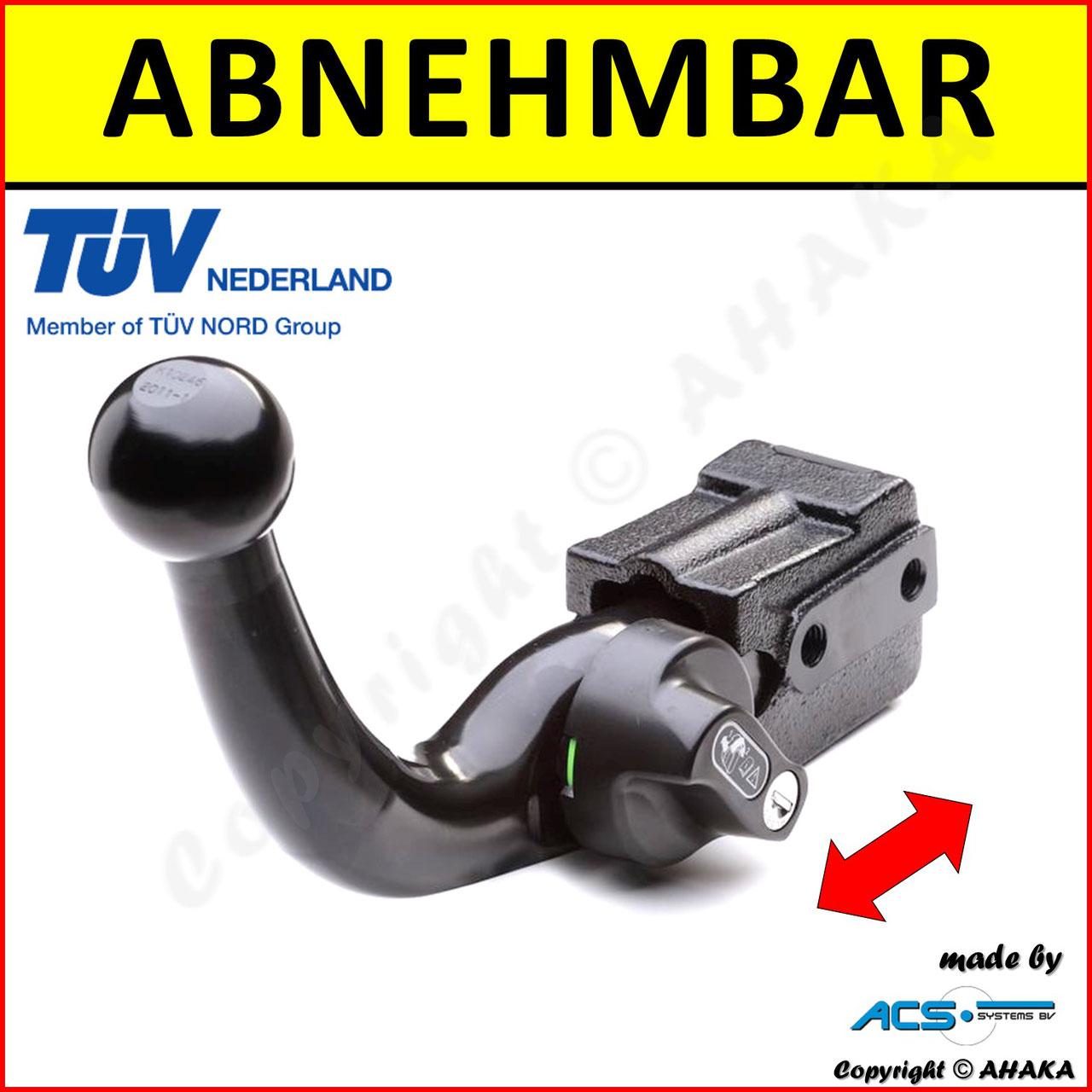 AHK abnehmbar Hyundai i20 09//14 13p E-Satz mit Blinküberwachung