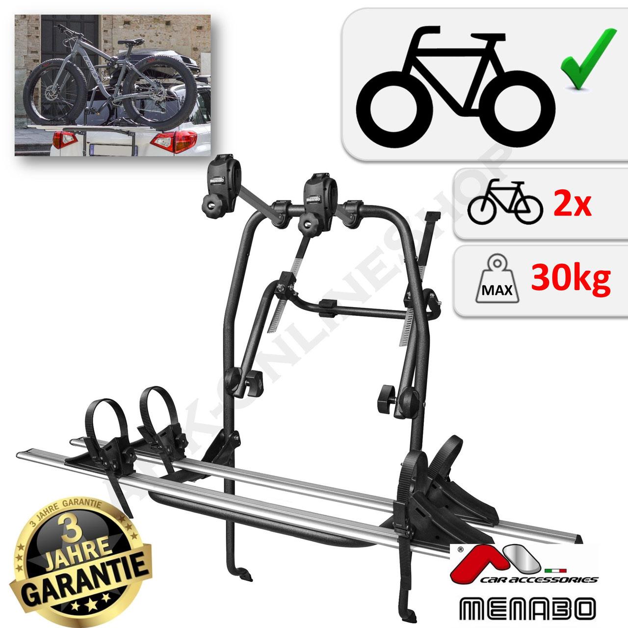 Menabo Fahrradträger Logic 2 für Opel Adam Fließheck 2 Fahrräder NEU