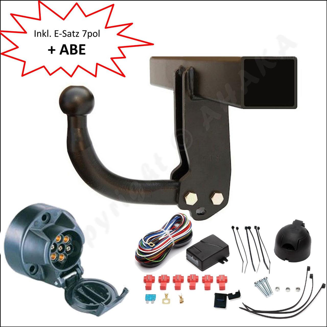 13p E-Satz Fiat Fullback 2016 AHK Abnehmbare Anhängerkupplung 24016//C/_A2