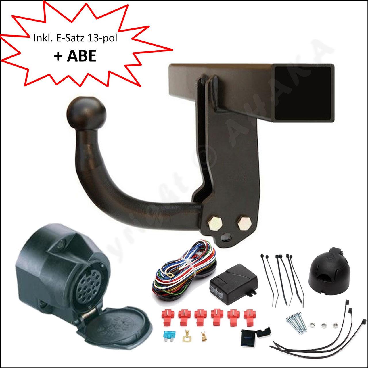 Anhängerkupplung abnehmbar+ESatz 7pol ABE Für Nissan X-Trail III T32