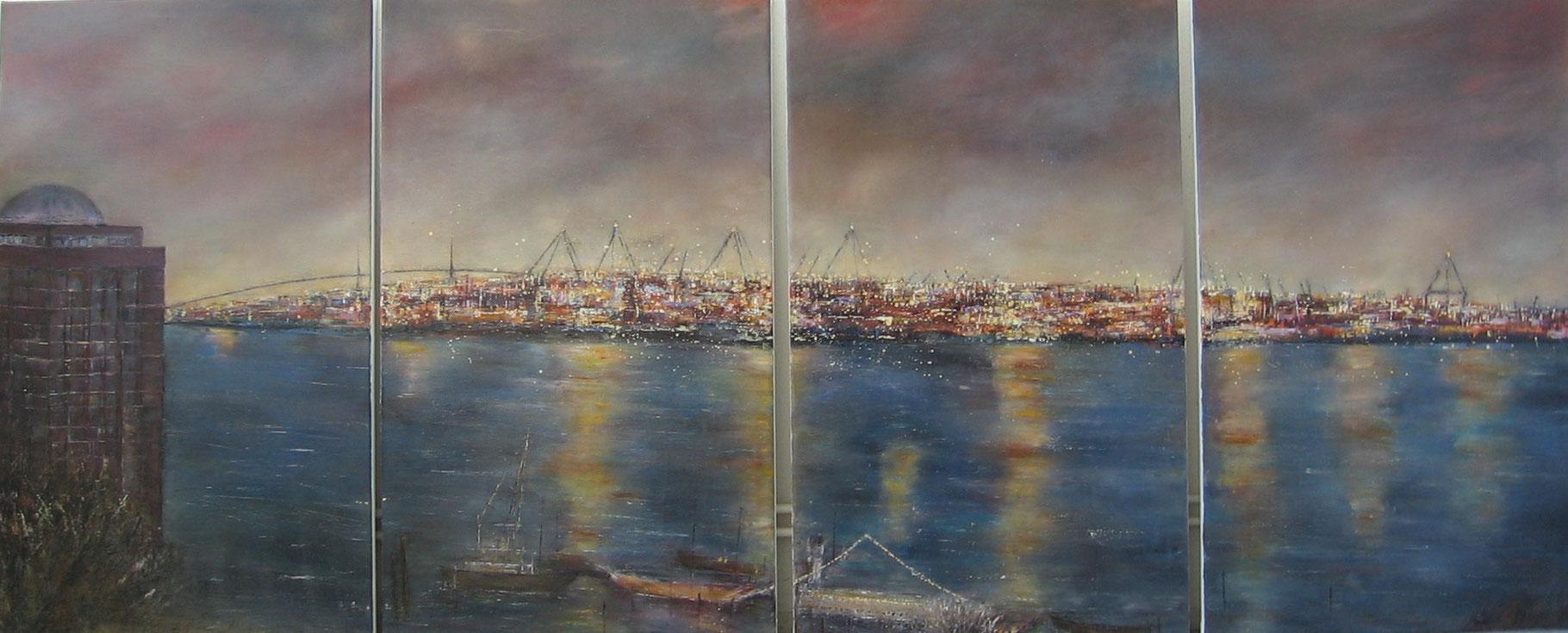 Le Canard, 4x 100x60 cm Öl auf Leinwand 2006 VERK.