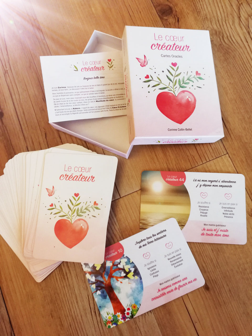 Le Coeur Créateur Jeu de 49 cartes Méditatives - 2019 corine Collin Bellet