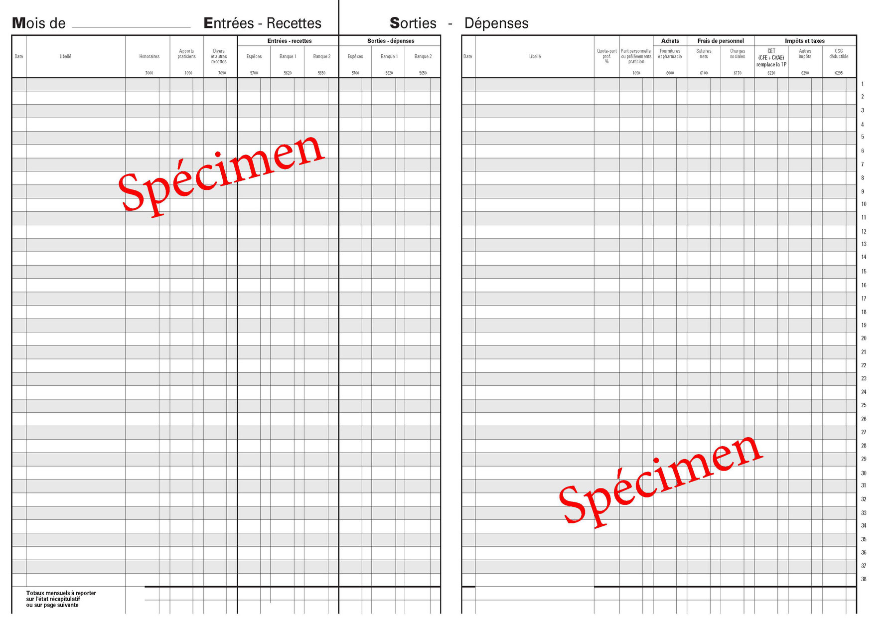 Livre Journal Comptabilite Comptabilite Des Depenses