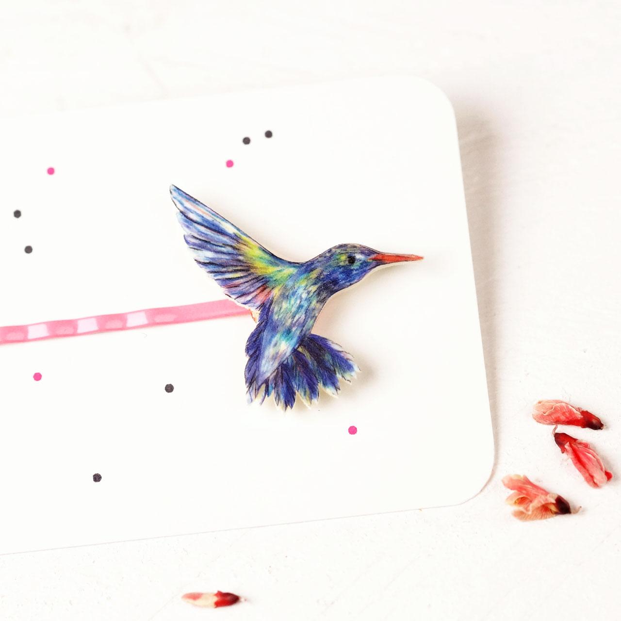 kolibri haarklammer kolibri vogelschmuck fraufischers. Black Bedroom Furniture Sets. Home Design Ideas