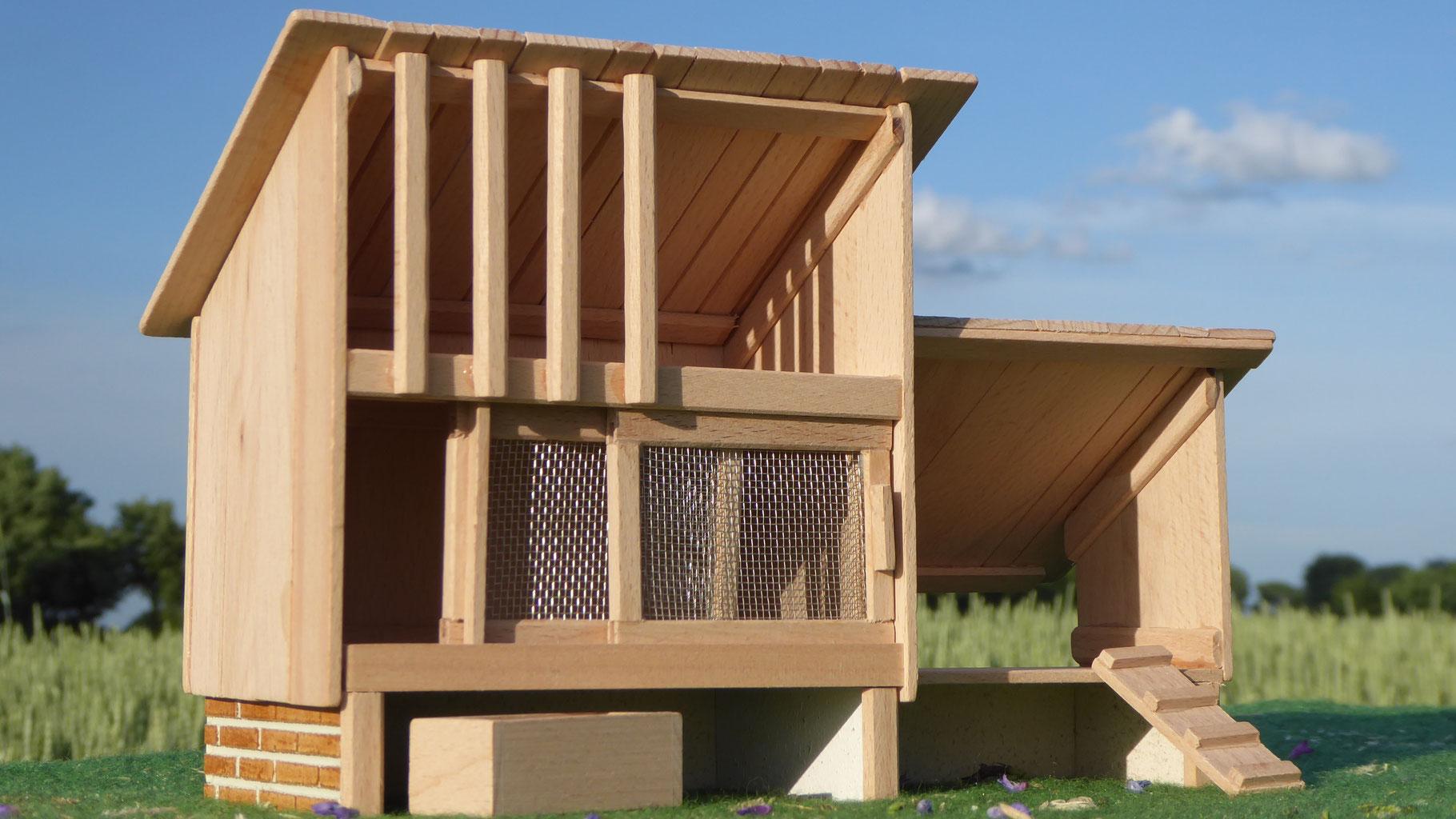 Holz Kletter Bogen : Holz kaninchenstall für schleich tiere ställe kutschen tack