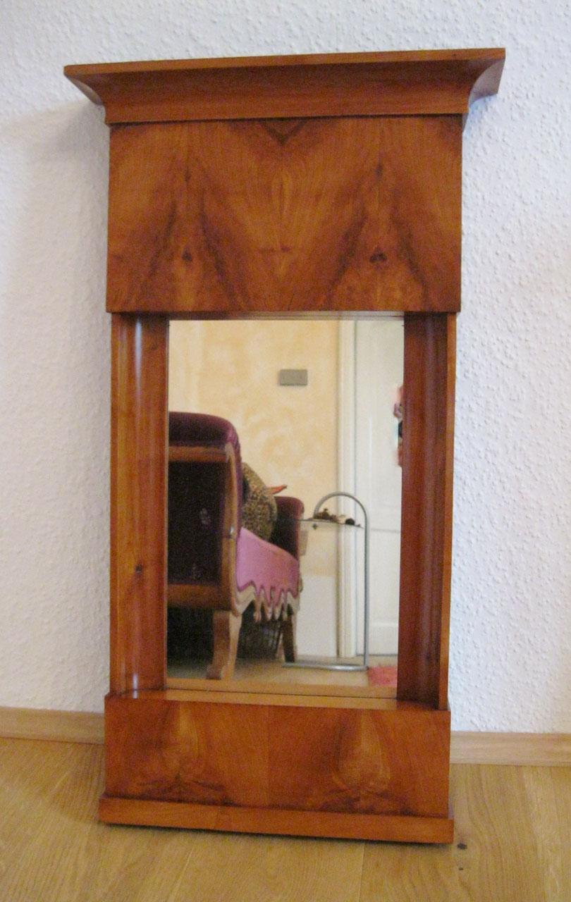 Biedermeier Spiegel biedermeier spiegel, kirschbaum - schöne antike möbel und uhren in
