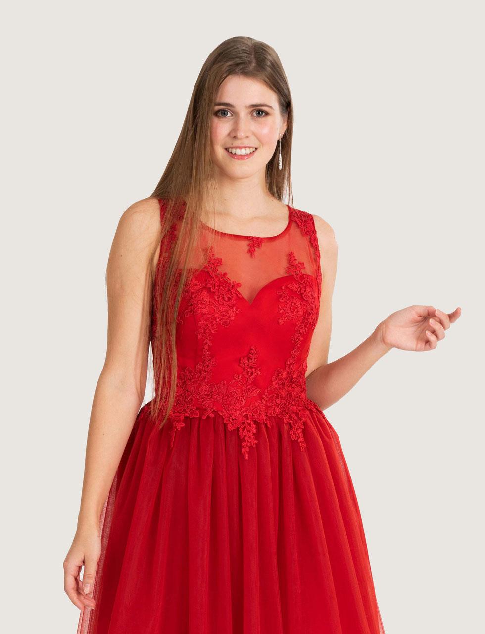 Rotes Ballkleid nach Maß ganz einfach online bestellen ...