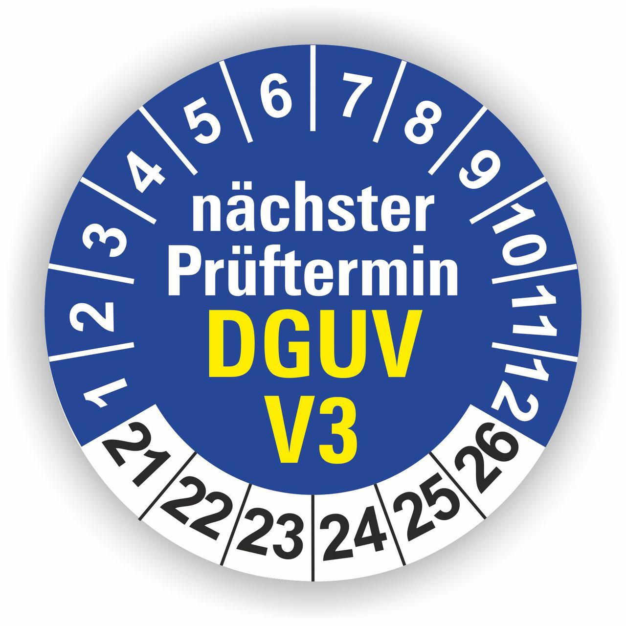 Pr/üfetiketten DGUV V3 gepr/üft fertig bedruckt mit 6-stelligem fortlaufendem Barcode 128B f/ür alle g/ängigen Pr/üfger/äte Nummernkreis 002 001.003 000 silberoptik matt 40x15mm