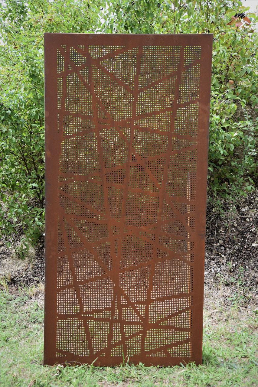 Sichtschutz Aus Cortenstahl Artwerk Metallbau