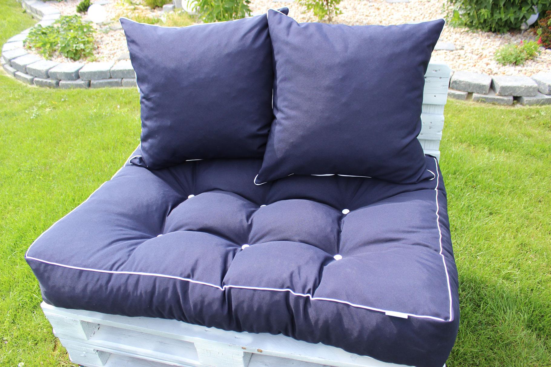 outdoor handmade cushions auflagen nach ma. Black Bedroom Furniture Sets. Home Design Ideas