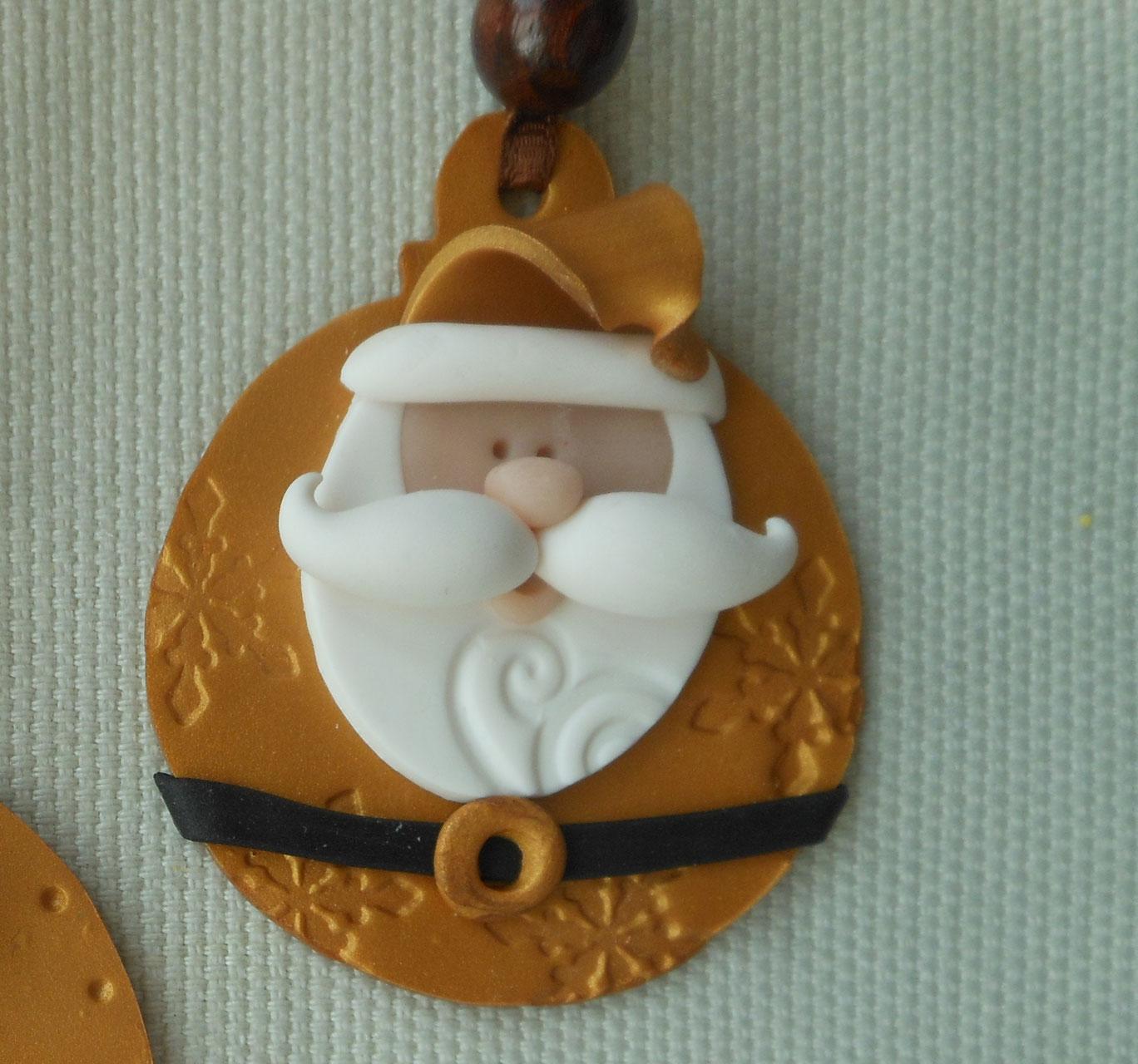 Natale in fimo fimochepassione for Decorazione waffel