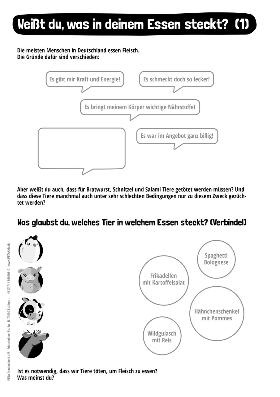 Unterrichtsmaterial – tierische Themen zur Gestaltung von ...