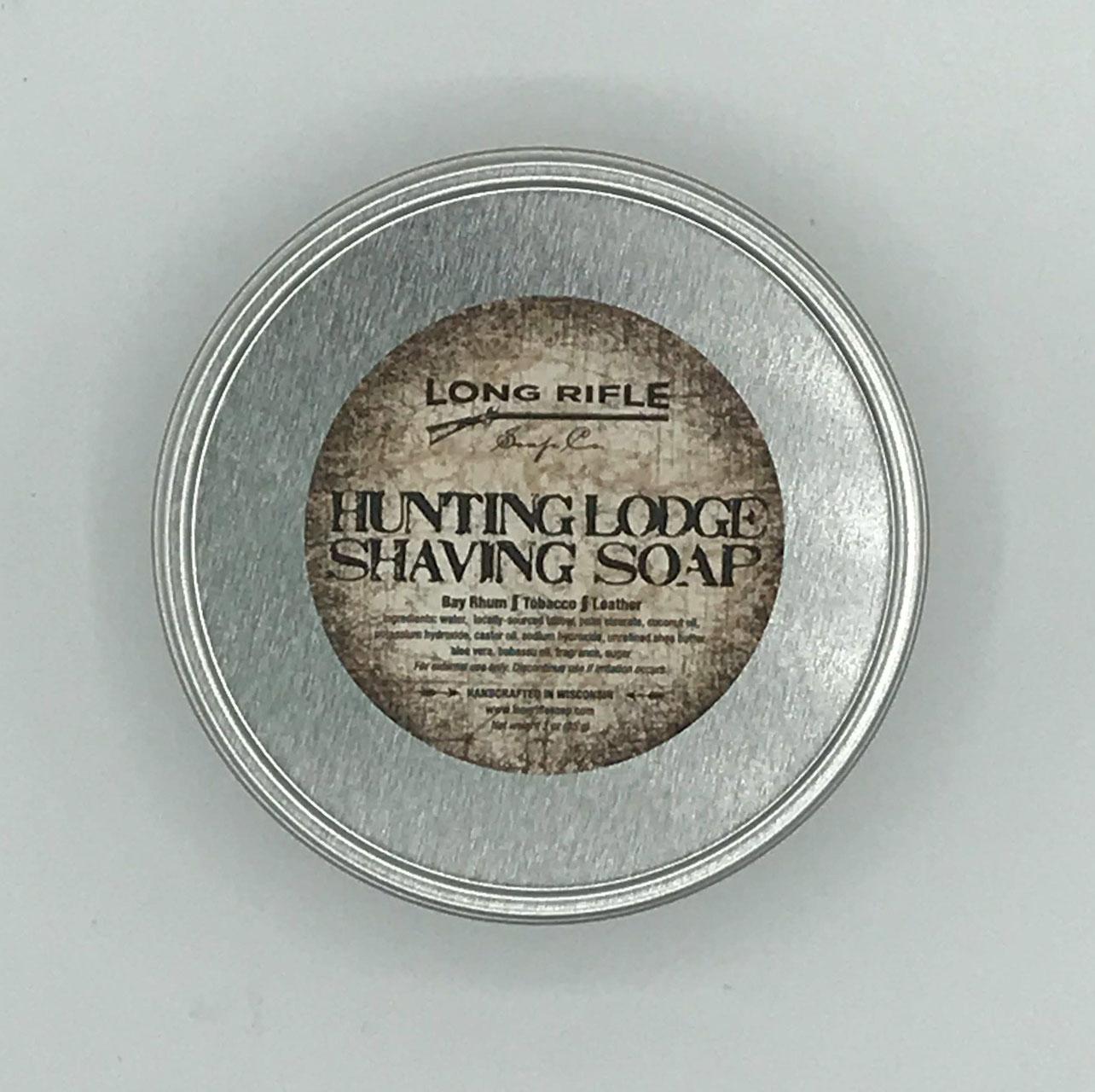 Hunting Lodge Shaving Soap Puck Long Rifle Soap Company Damn