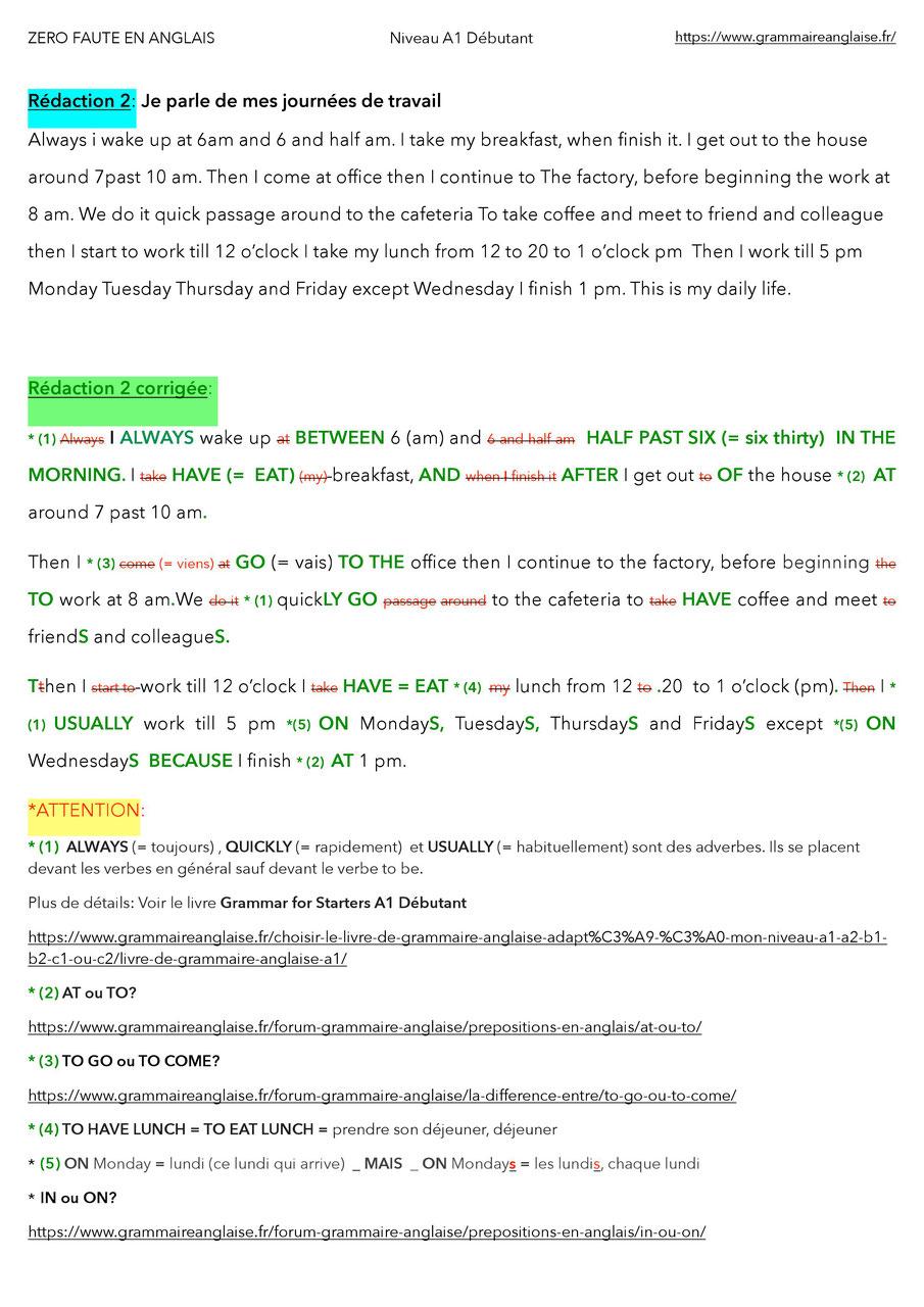 exercice anglais vocabulaire maison