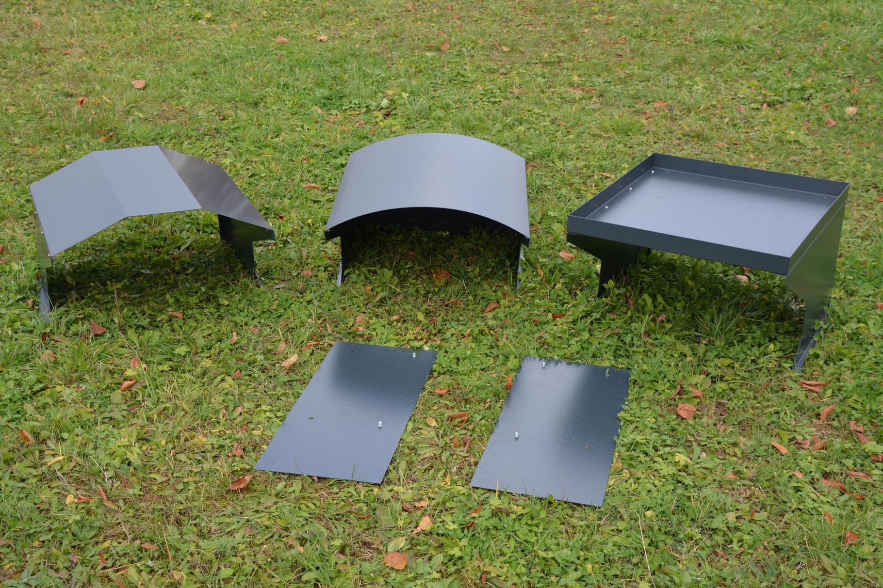 m hroboter garage box mit pflanzdach metallmoebel24. Black Bedroom Furniture Sets. Home Design Ideas