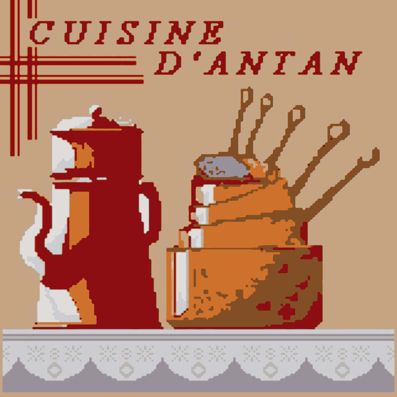 Canevas 40 cm x 40 cm la passion de la broderie for La cuisine d antan