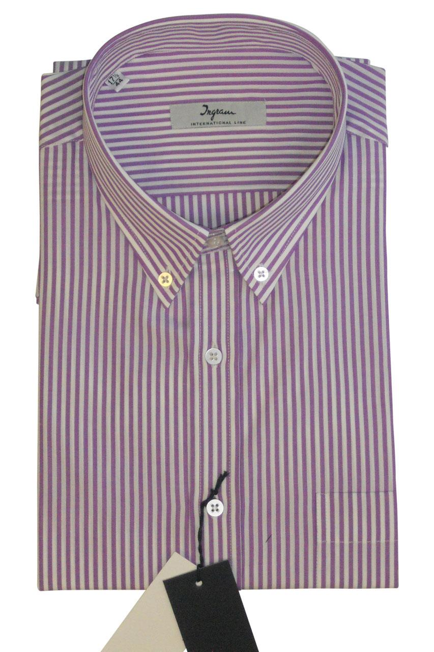 16401c0d36f2ec Vêtements pour homme Camicia classica uomo ingram button down con taschino  a quadri marrone blu Chemise