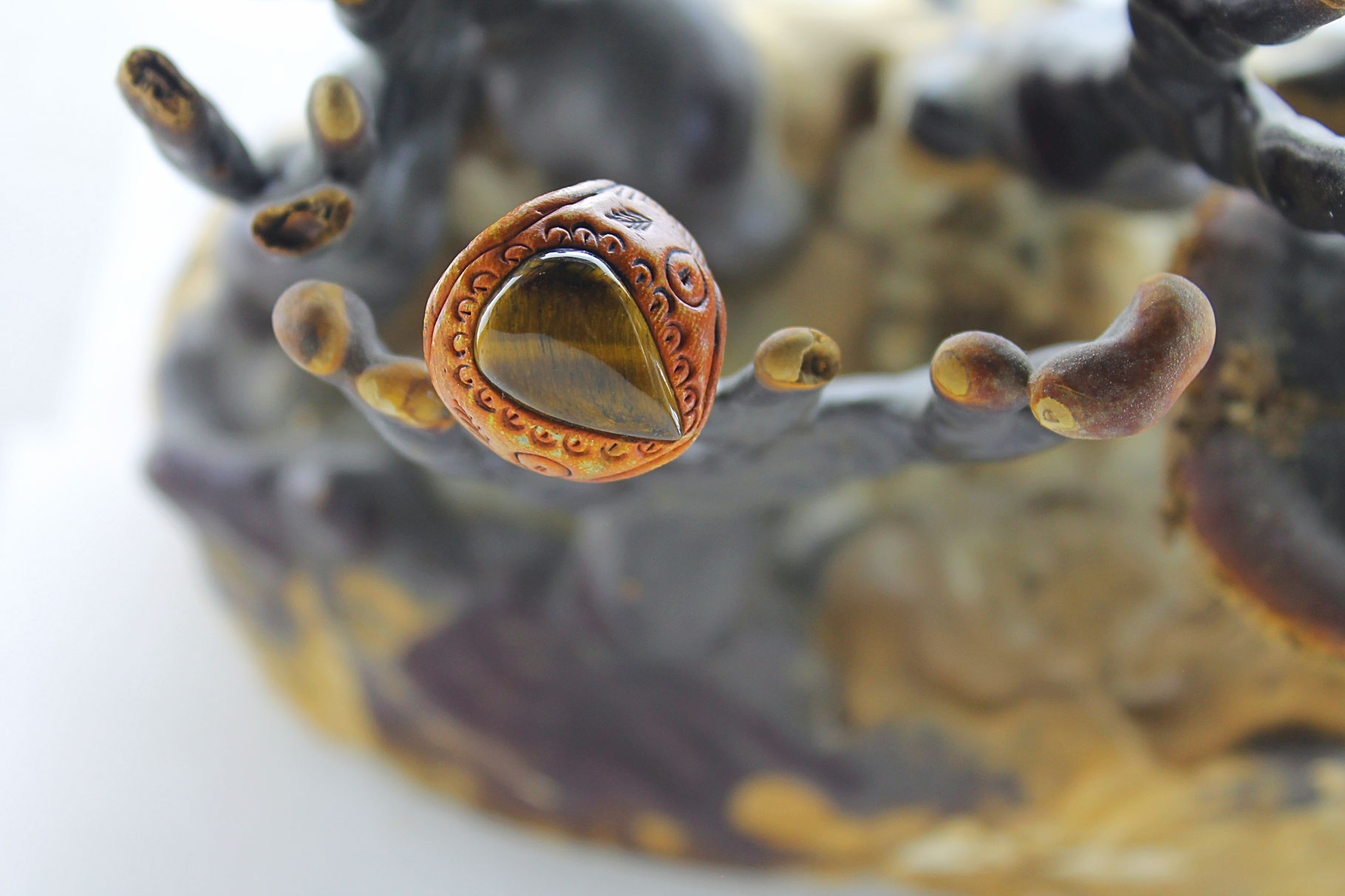 round stone s fullxfull il rings ring red adjustable and sterling p large statement silver tiger tigers eye