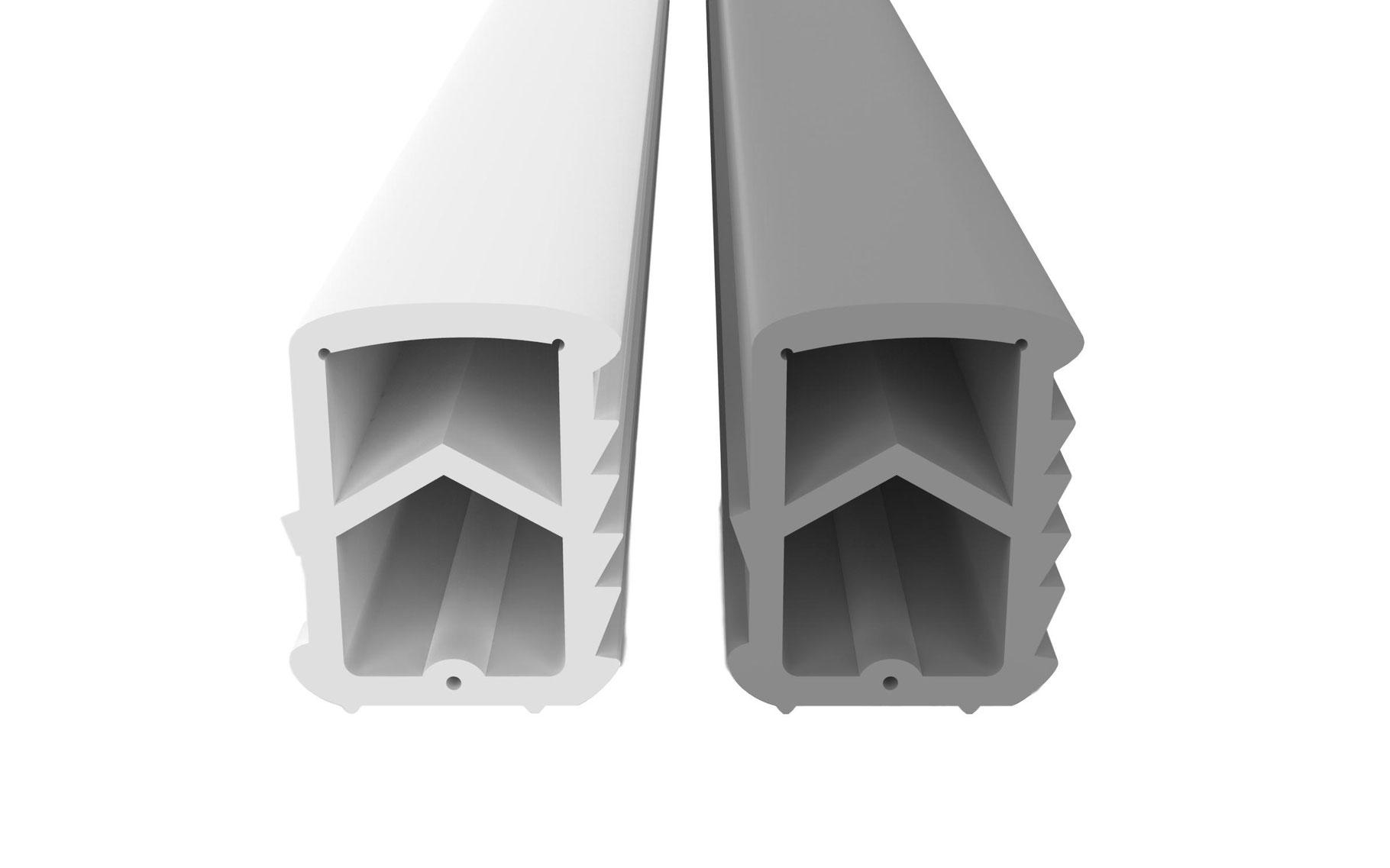 T/ürdichtung Dichtung Stahlzargendichtung gegen Zugluft spart Heizkosten Dichtungsh/öhe 16mm Dichtungsbreite 14mm Falz Grau 5m Stahlt/ür /& Brandschutzdichtung Dichtband L/ärm /& Staub