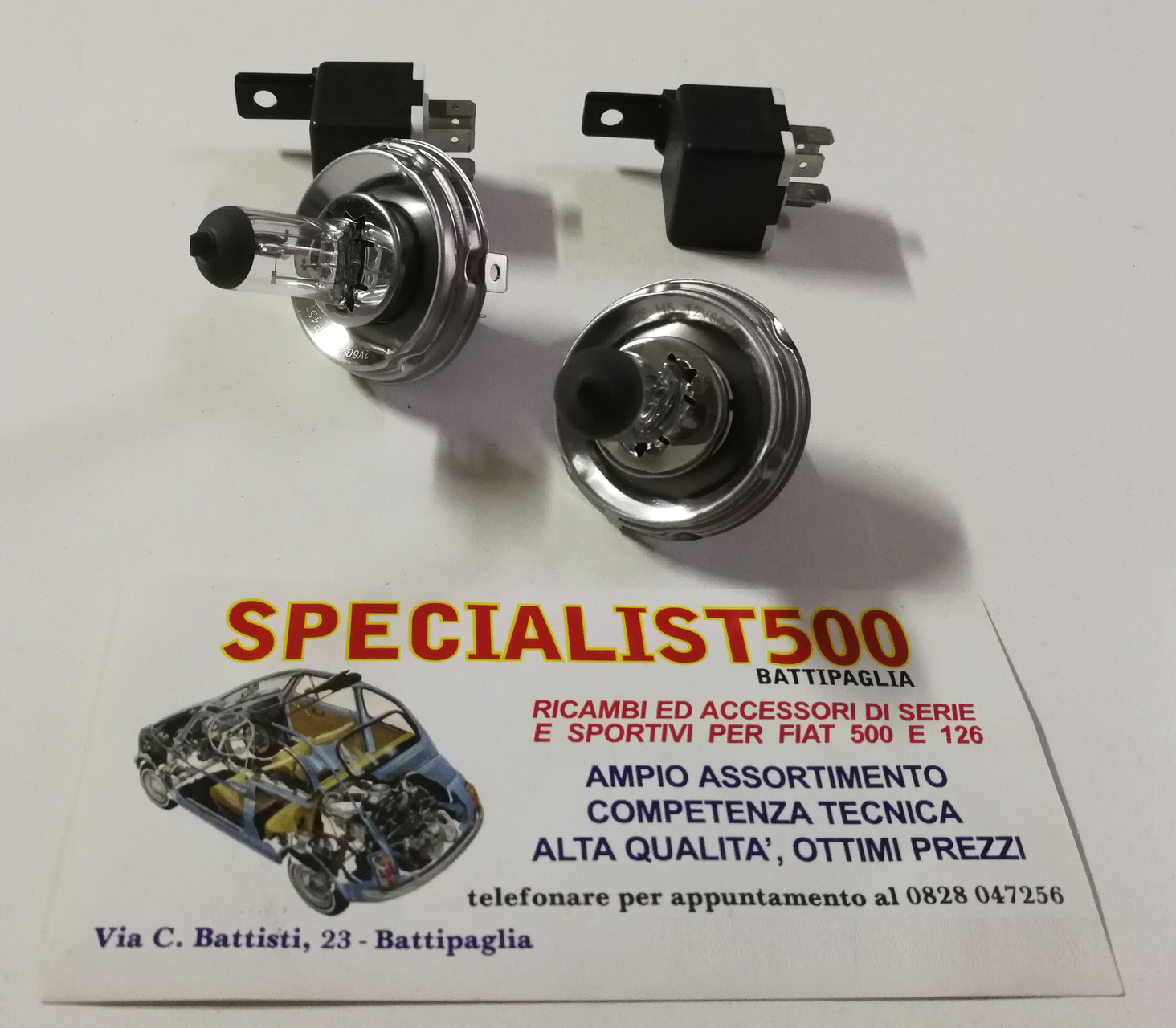 FIAT 500 F//L//R COPPIA LAMPADA ASIMMETRICA R2 LAMPADINA FANALE P45T 12 45//40 WATT