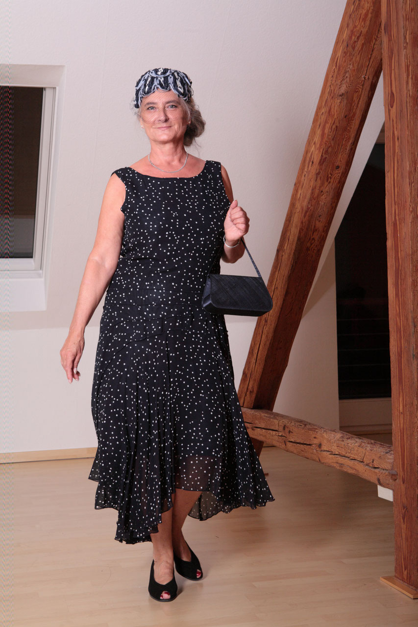 20er jahre kleid tupfen i vintage mode handgen ht mode atelier klennes