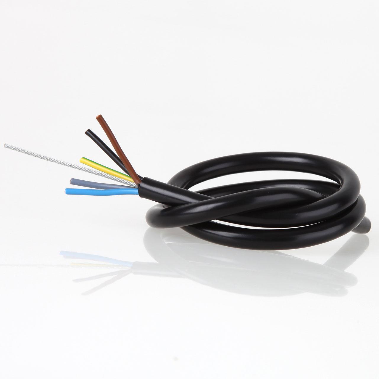 PVC-Kabel 5 adrig - Textilkabel Fachhandel Felix Schmieder
