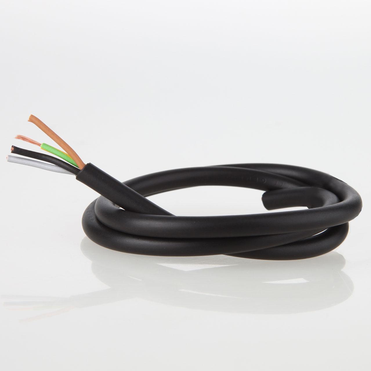 PVC Lampenkabel Rundkabel 4-adrig 4x0,75mm² H03 VV-F - Textilkabel ...