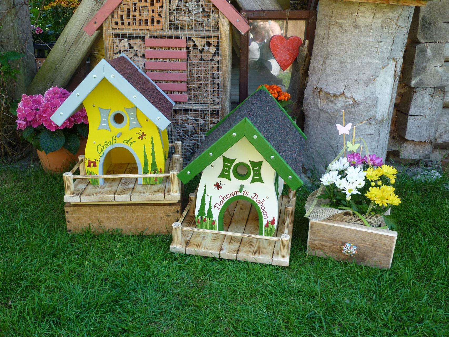 vogelh user kunsthandwerks laden vogelh user zirbenprodukte altholzdeko insektenhotels. Black Bedroom Furniture Sets. Home Design Ideas