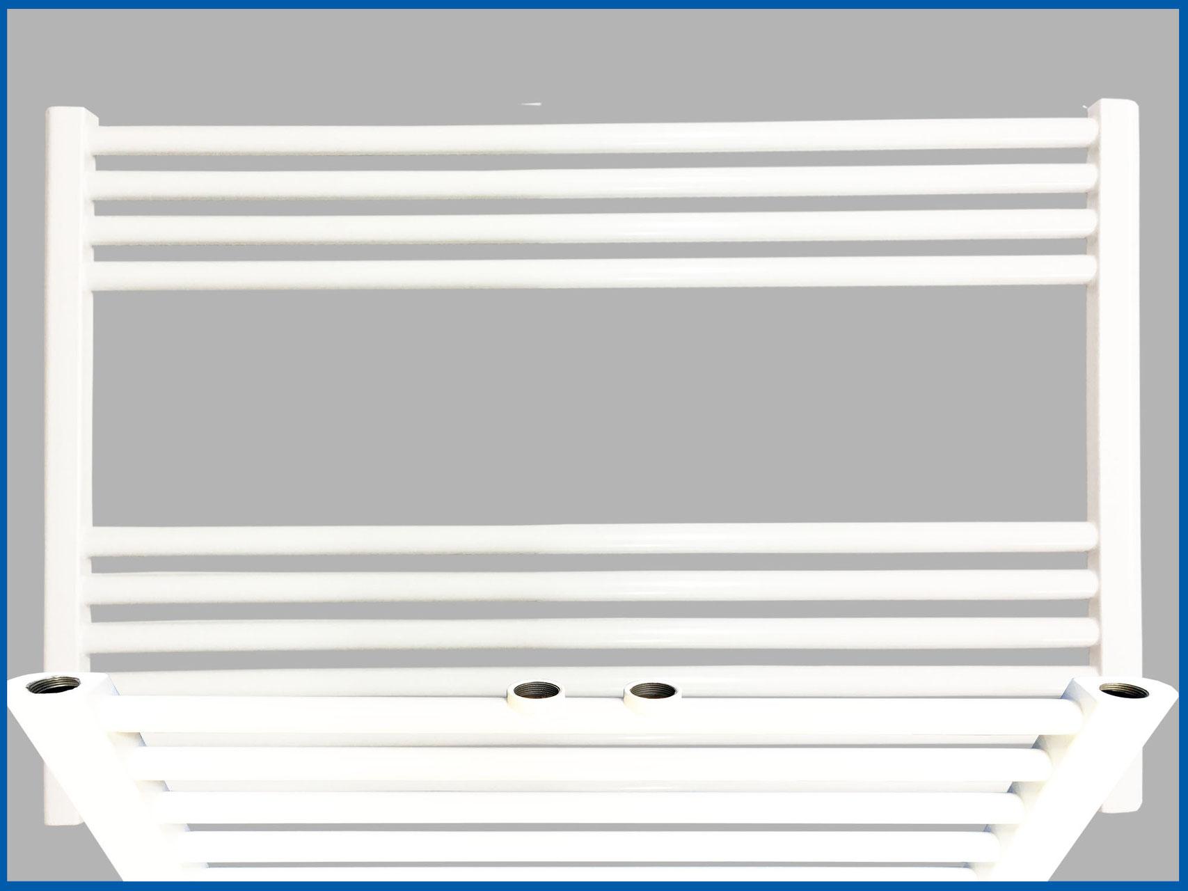Gerade oder Gebogen Badheizkörper SMYRNA Weiß 700 x 1200 mm