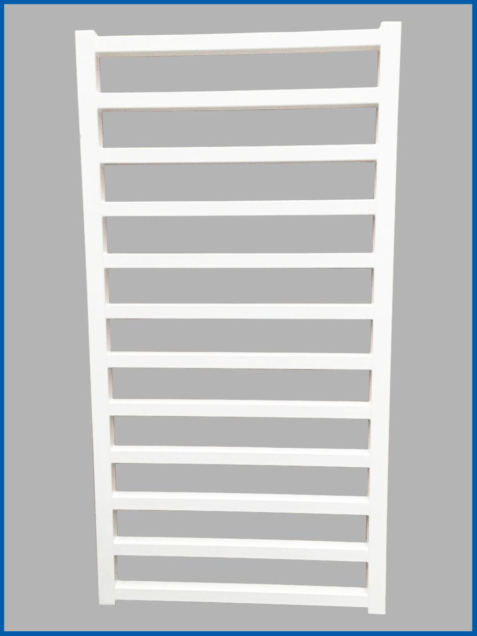 Gerade oder Gebogen Badheizkörper SMYRNA Weiß 600 x 1600 mm