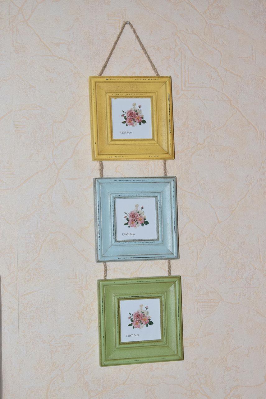 3-er Set Fotorahmen Vintage- Look - Elfenblau, sexy Mode im Vintage ...