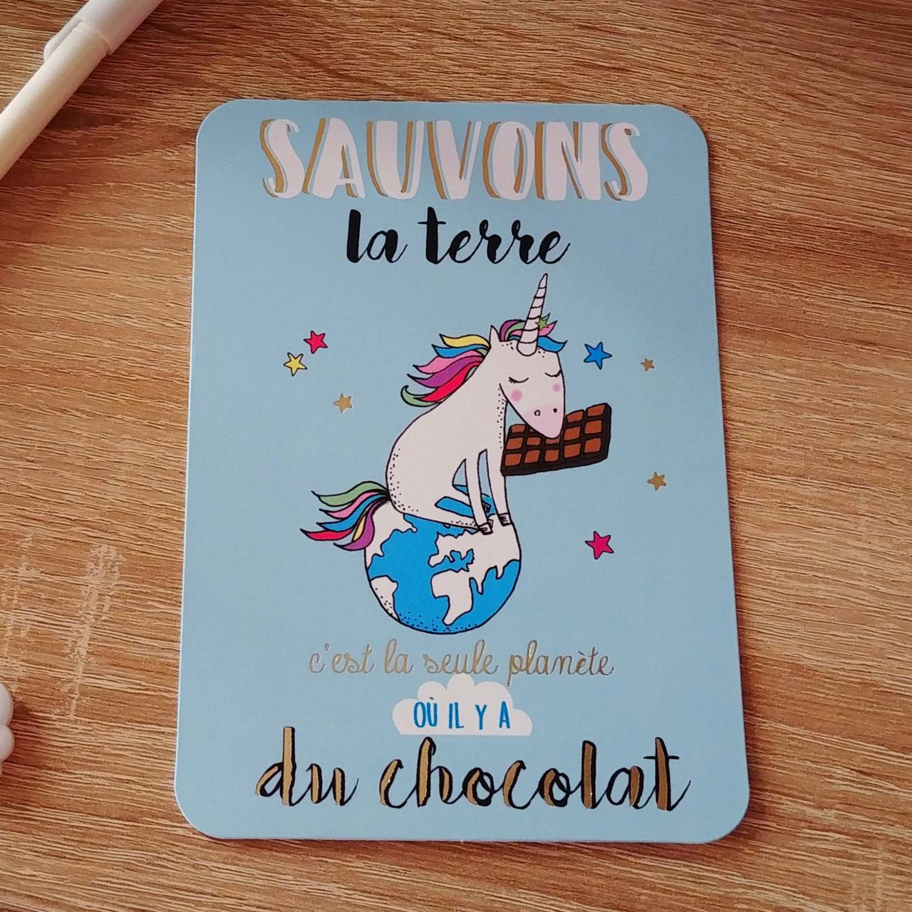 CHOCOLAT * Atelier 10 x 15 * Carte Postale