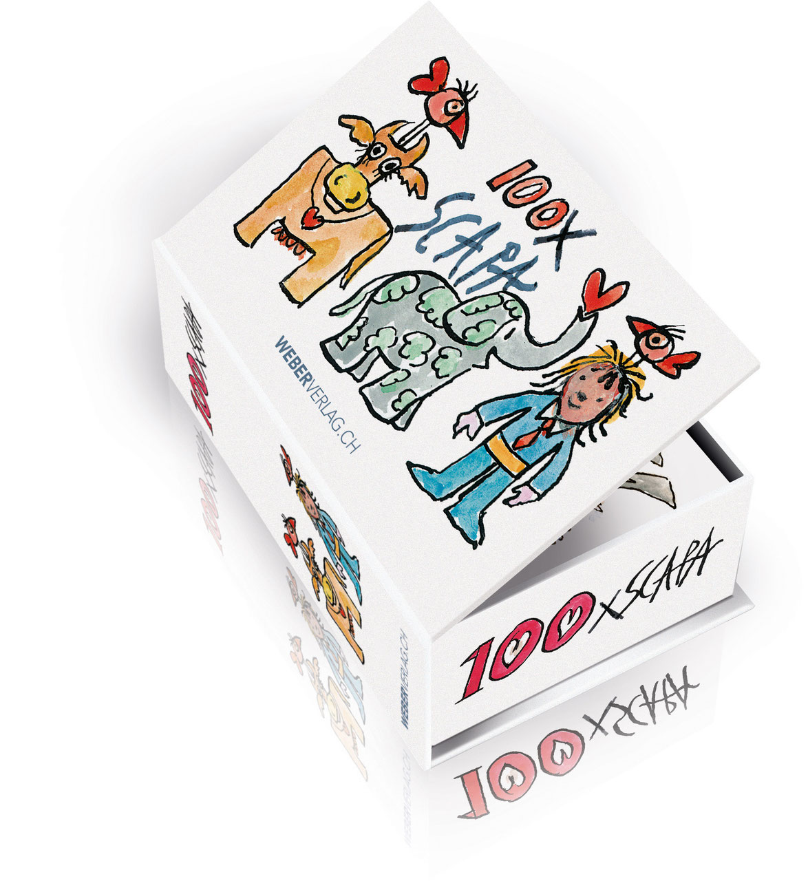 Postkartenbox 100 Mal Ted Scapa - Weber Verlag