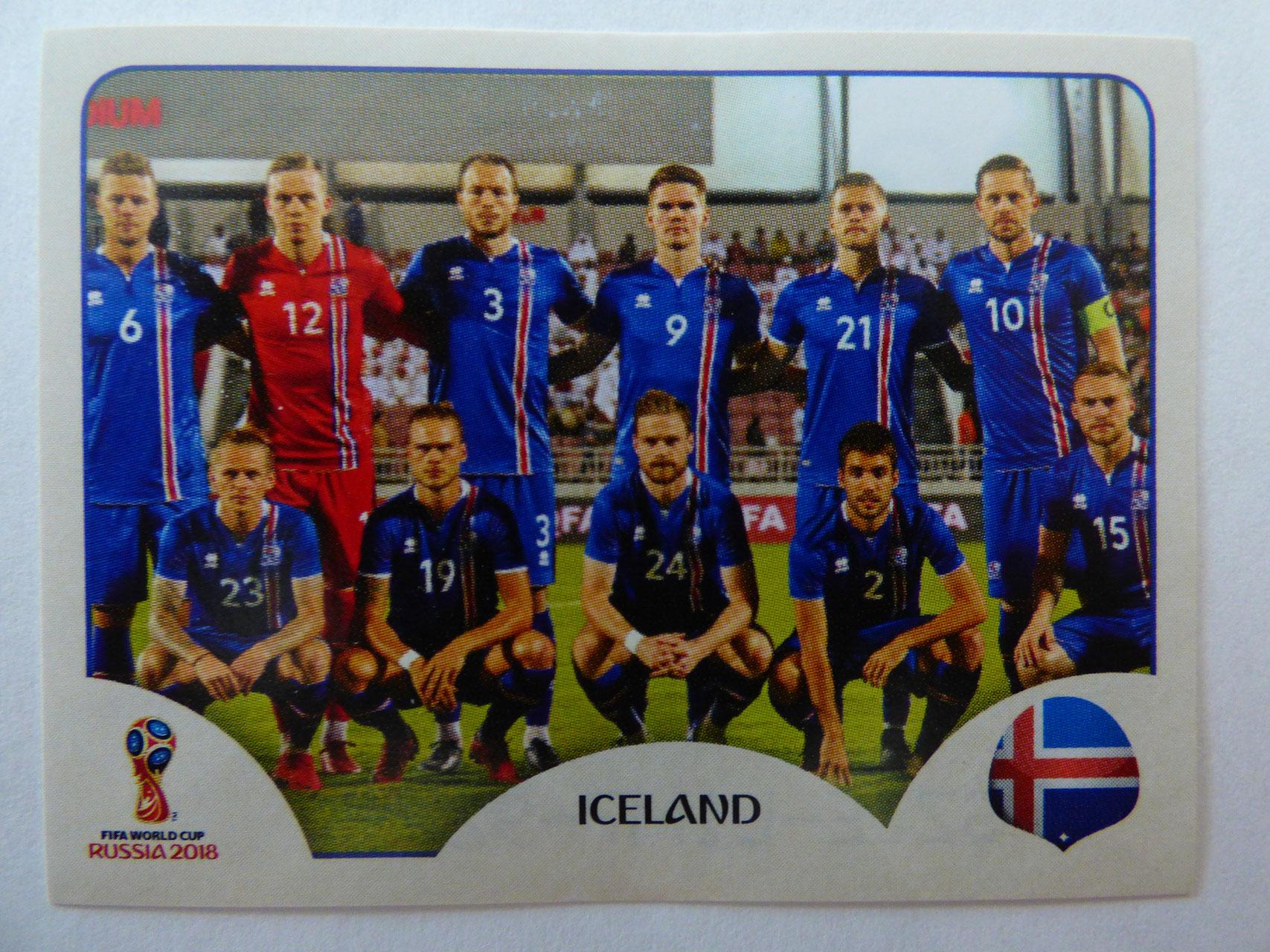 Sticker 303 Panini WM 2018 World Cup Russia Island Emil Hallfredsson