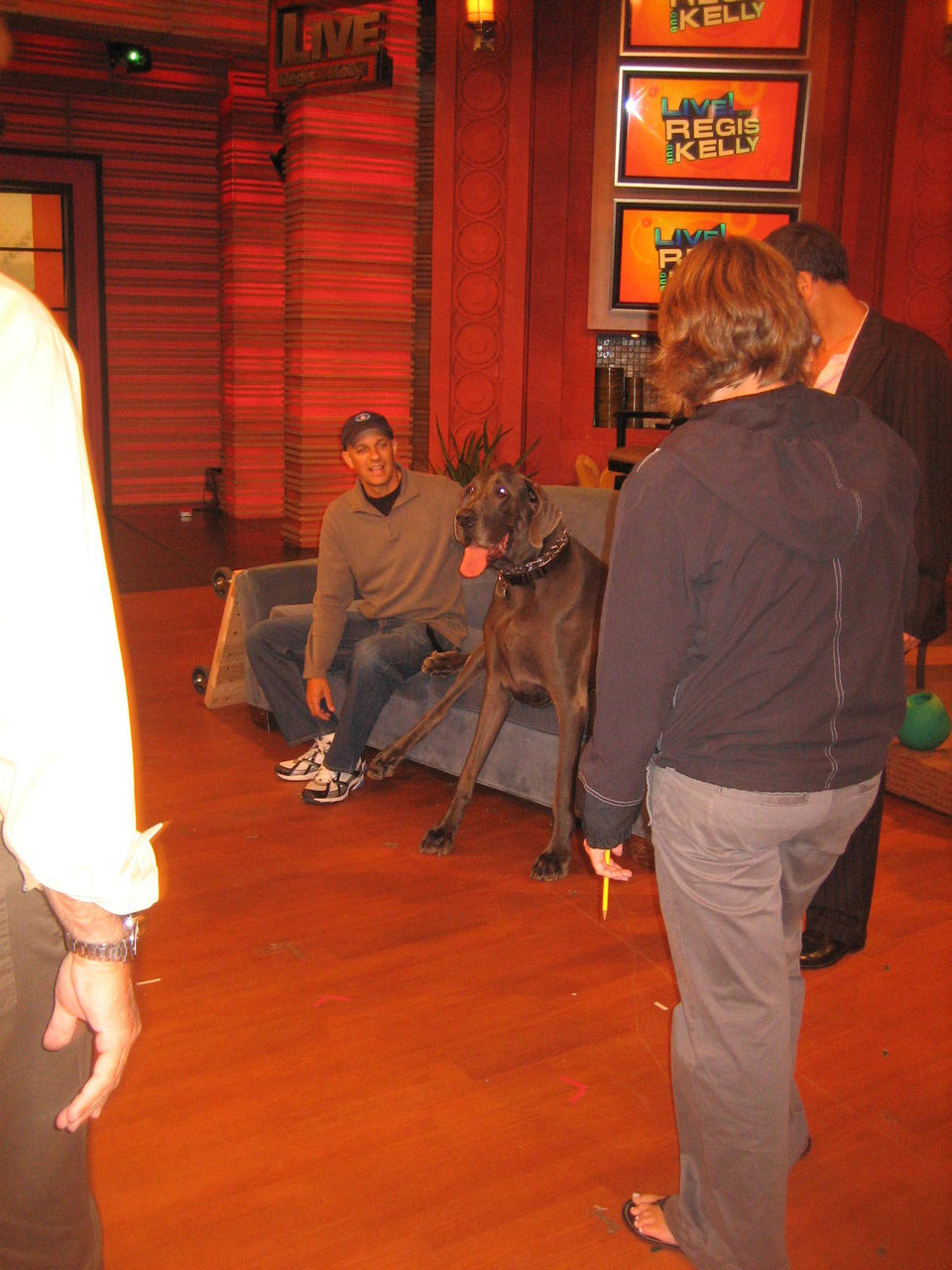 George during a live broadcast with Regis and Kelly, New York