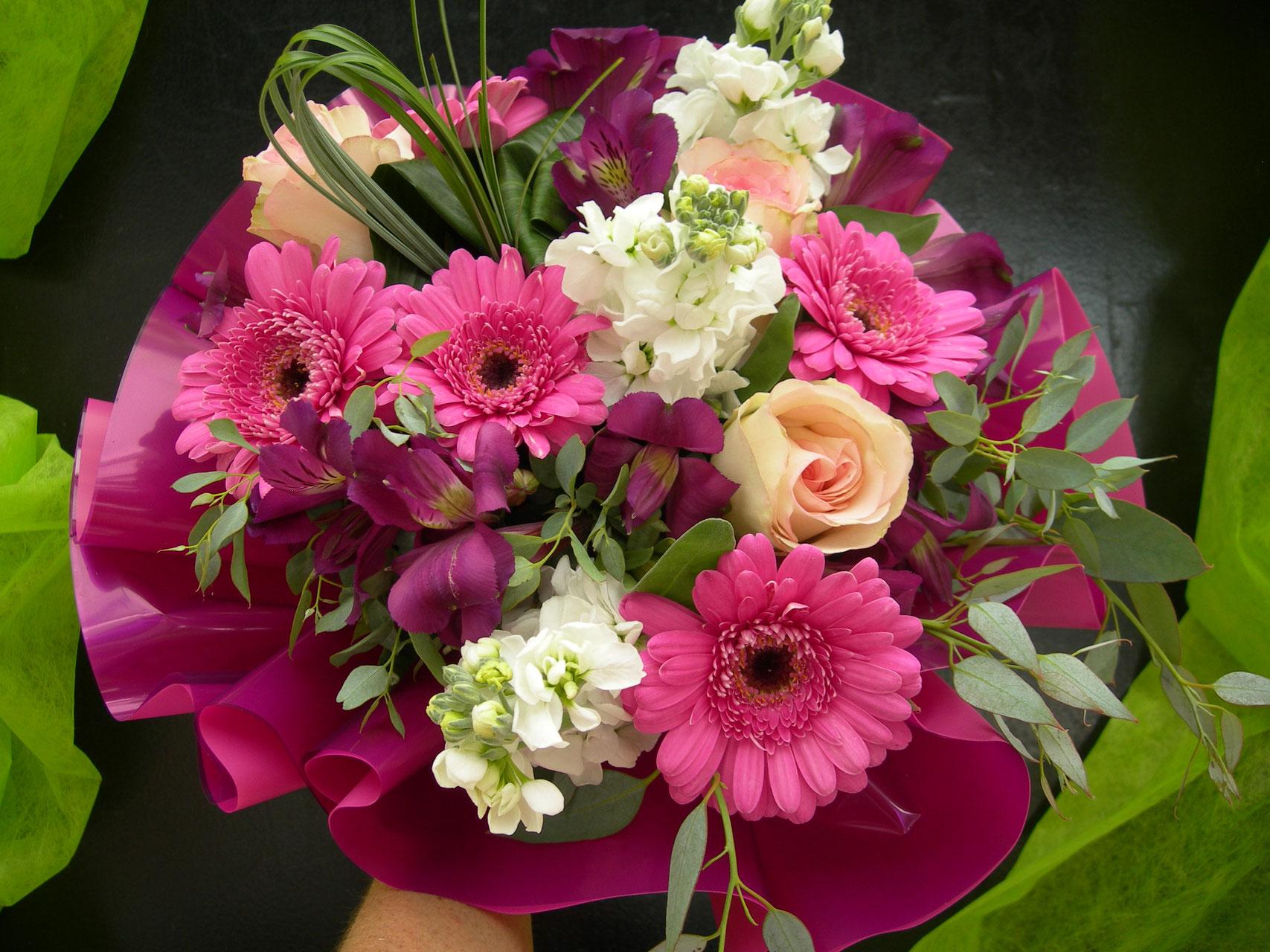 les bouquets bulles ronds - le clos des roses - fleuriste près de saumur
