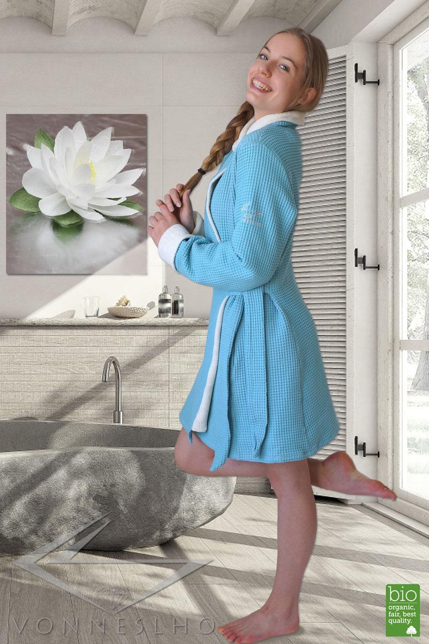 wellness bademantel damen f r sauna vonneslho. Black Bedroom Furniture Sets. Home Design Ideas