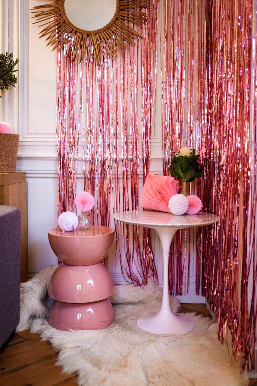 d co baby shower bapt me anniversaire evjf rideaux de franges d co design chambre b b. Black Bedroom Furniture Sets. Home Design Ideas