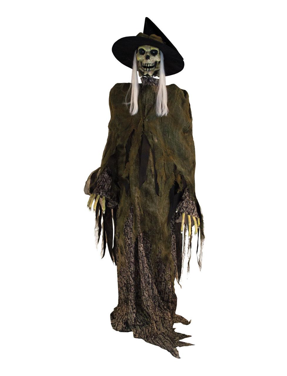 Skeletthexe Halloweenshop Halloween Dekoration Onlineshop Fur Halloween Deko Animierte Figuren Lebensgrosse Animatronics Und Gruselige Halloween Deko