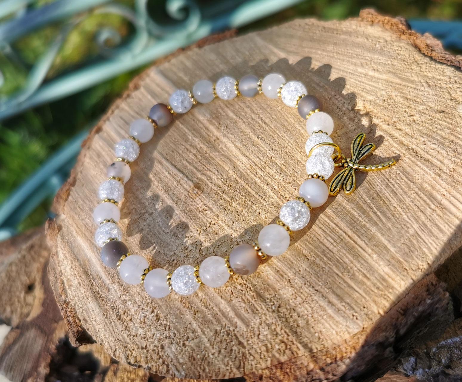 Kinderwunsch Armband Mondstein Bergkristall Harmonie Empfängnis Schwangerschaft