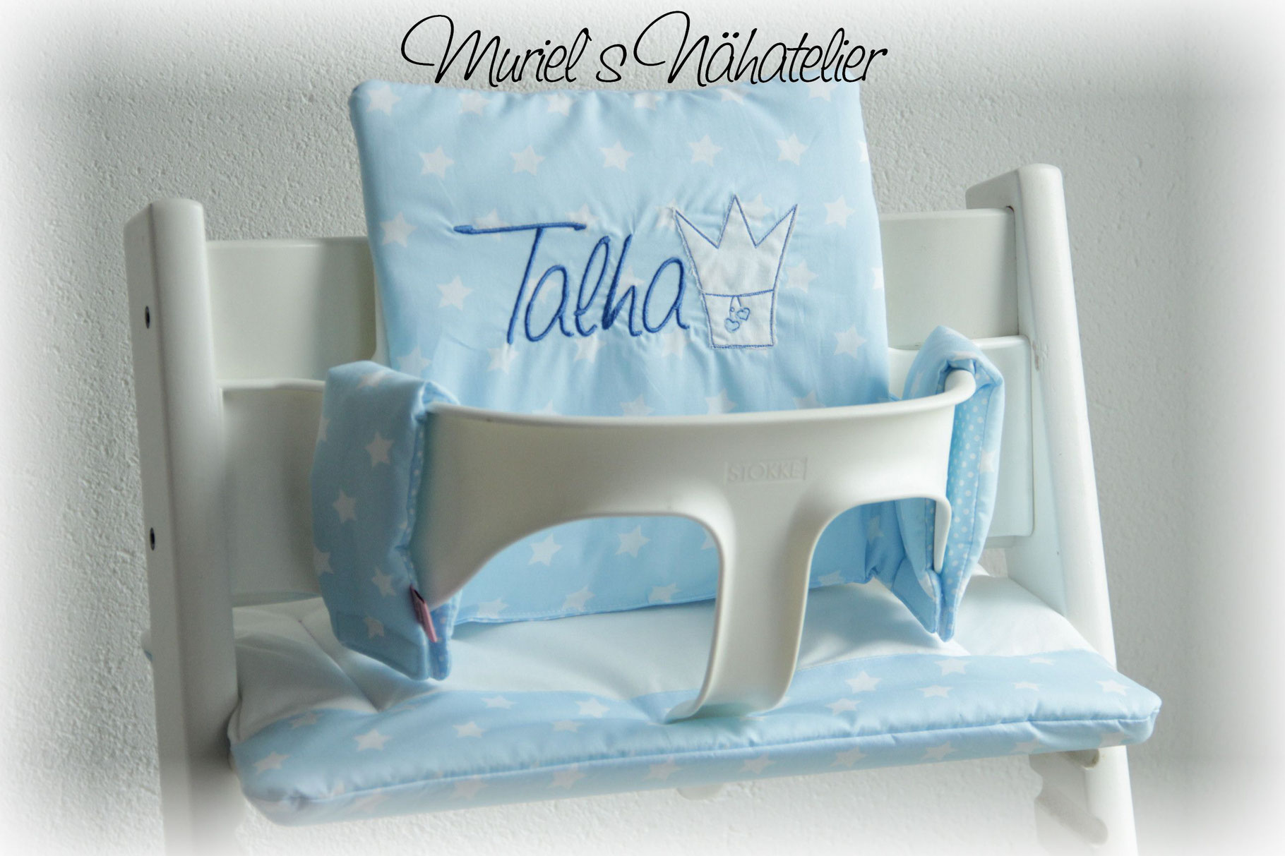 tripp trapp kissen prinzessin muriels n hatelier. Black Bedroom Furniture Sets. Home Design Ideas