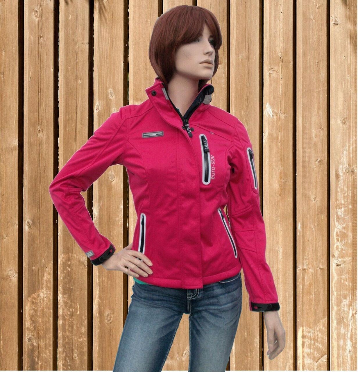 wasserdicht winddicht Softshell raspberry Euro Star Softshell Jacke Fabienne