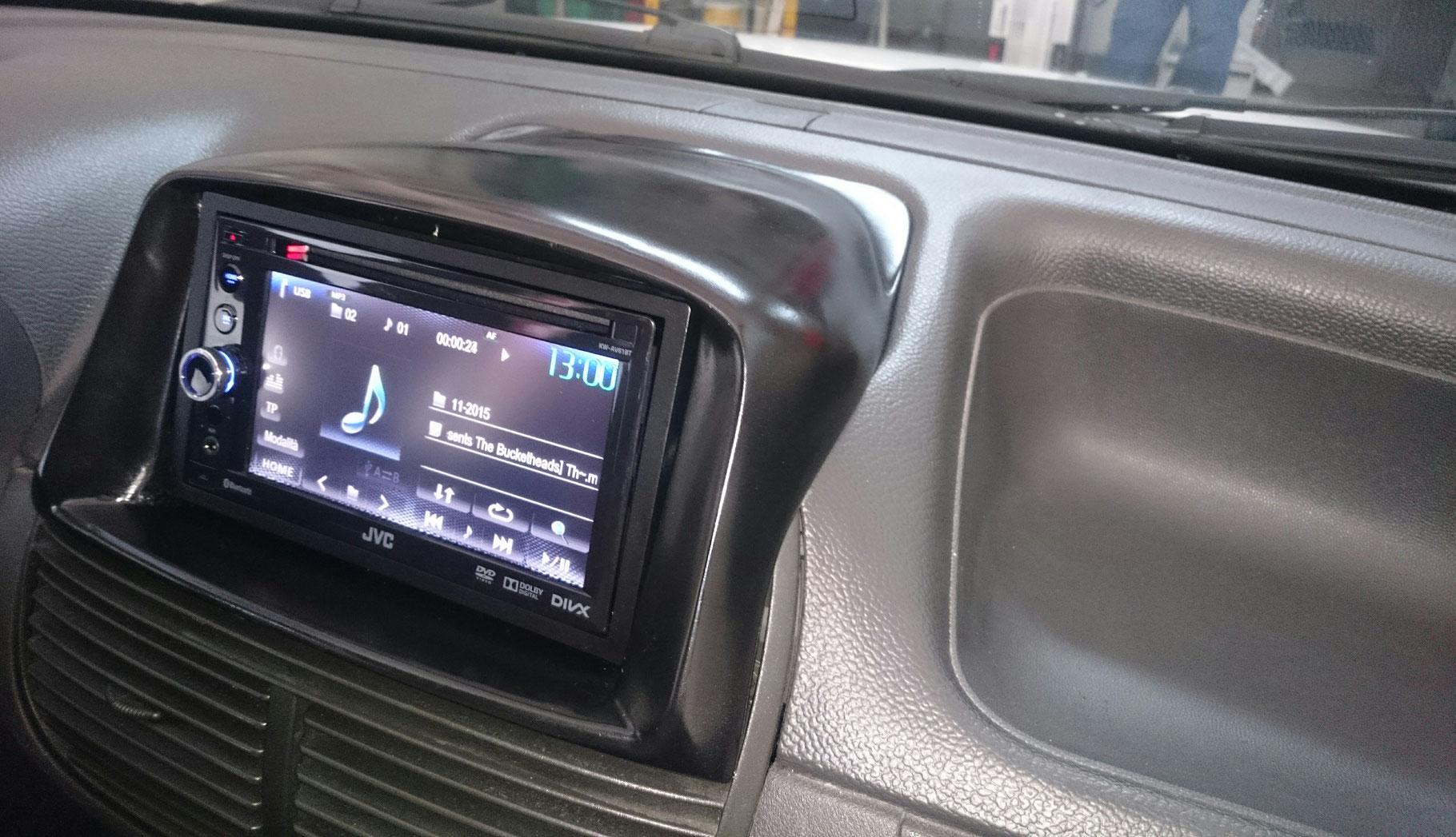 Doppio DIN colore antracite Fiat Panda Mascherina con foro ISO-Doppio ISO
