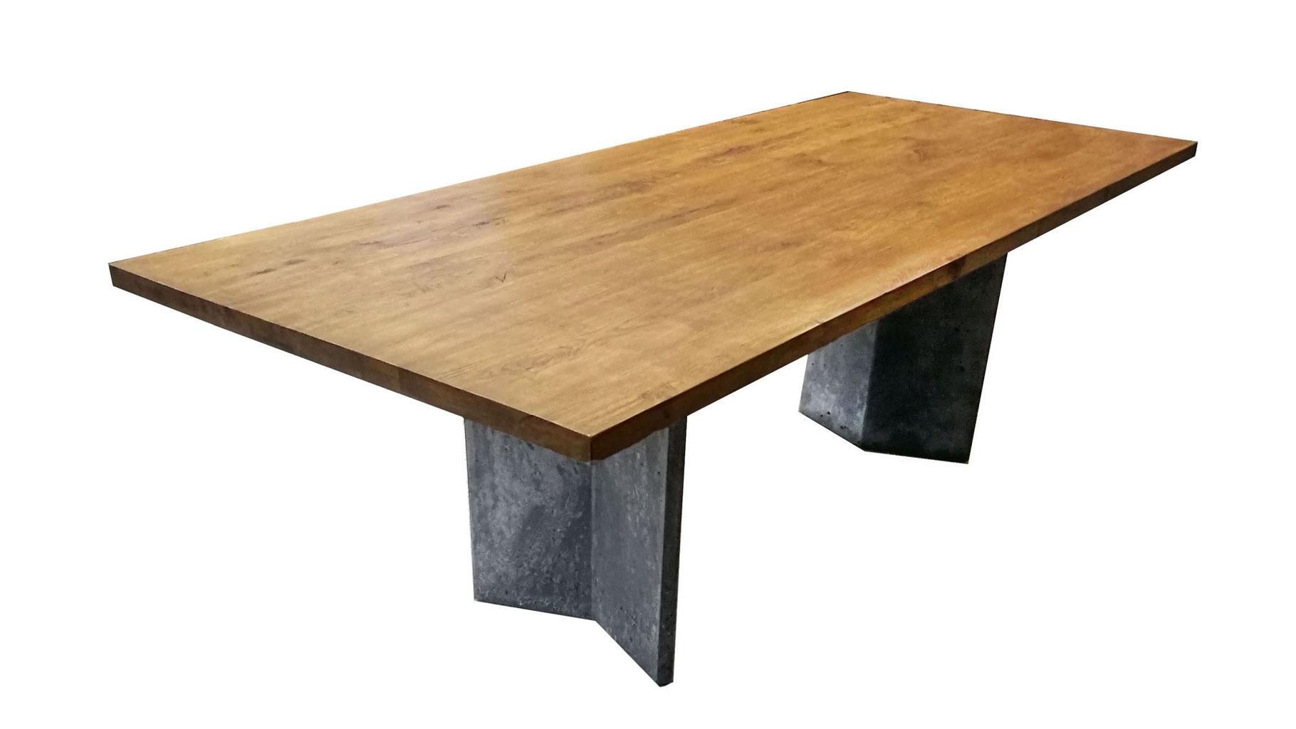 Holz Beton Tisch Esstisch Modern Minimalistisch Esszimmer Design