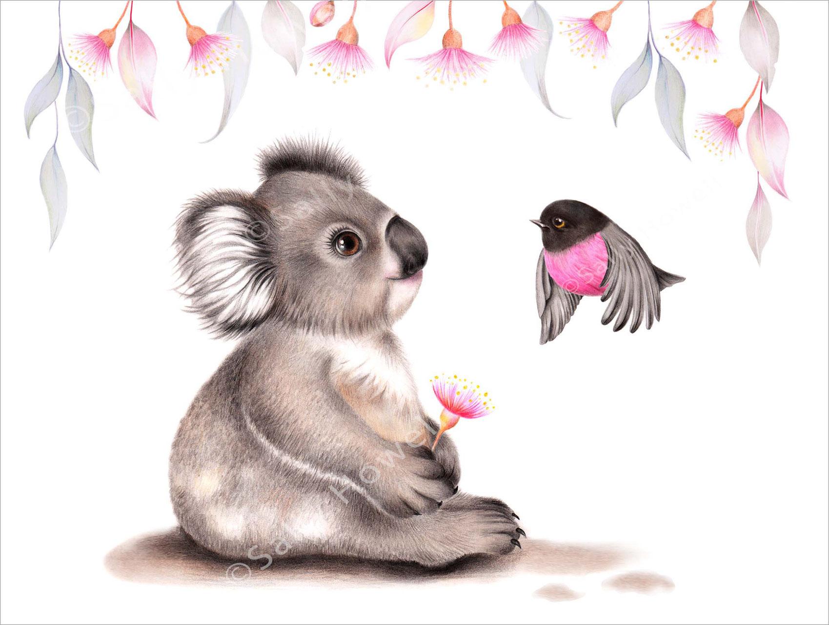 Gorgeous Koala Print Taffy Blue
